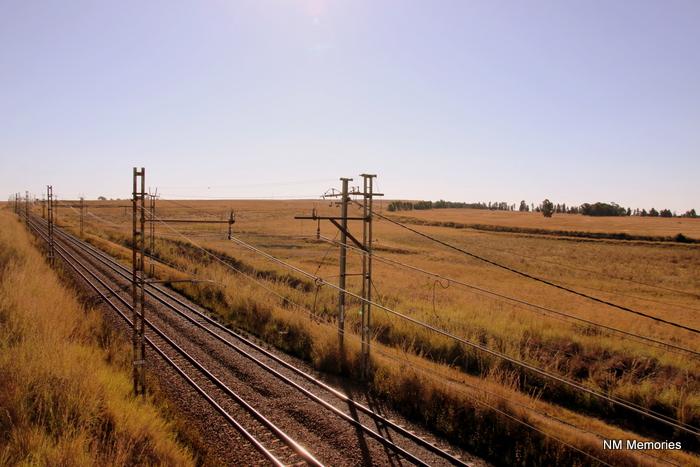 A train station runs through rural Mpumalanga